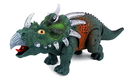 Prehistoric Dinos Triceratops Battery Op Toy Dinosaur Figure (Colors May Vary) fc479e8d-e519-4075-b18d-9c87561f6d03