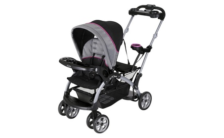 Baby Trend Sit 'N Stand Ultra Double Stroller, Millennium Raspberry 29a7b521-4879-4504-926d-ac4bff7176a6