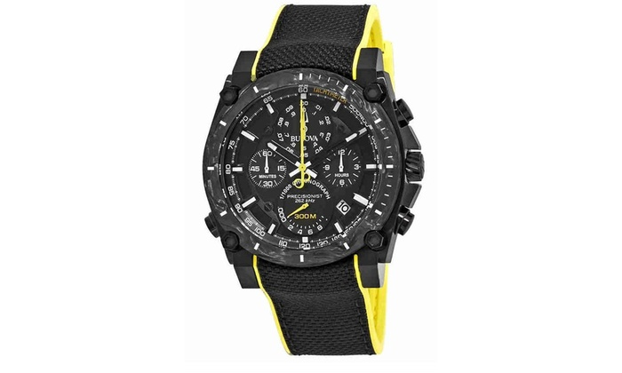 f8f39ce53 Bulova Precisionist Chronograph Nylon Mens Watch 98B312 | Groupon
