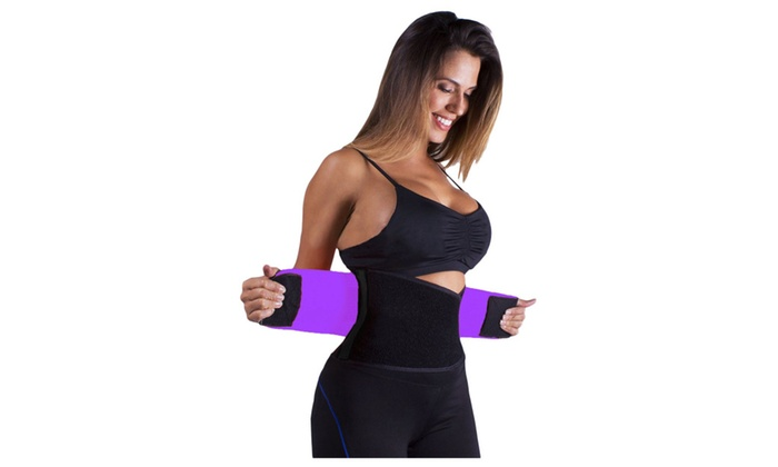 Women's Lingerie Purple Power Belt Fitness Waist Trainer