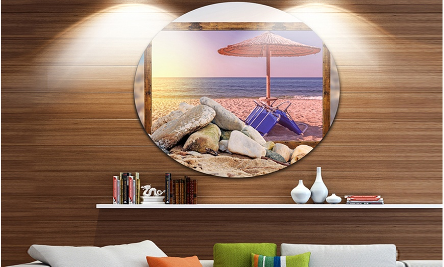 Up To 11 Off On Framed Effect Beach Sunset S Groupon Goods