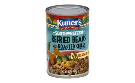 Kuners Bean Refried Chilies - Pack of 12, 15.5 oz. 9097b1f5-d29f-4b4a-b0eb-a3011a807326