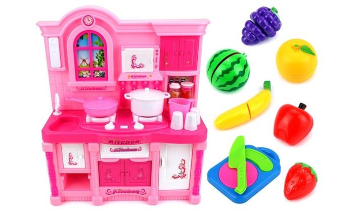 Delicieux Mini Rainbow Kitchen Childrenu0027s Kidu0027s Toy Kitchen ...