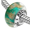 Sterling Silver 'Big Spender' Murano-style Glass Bead