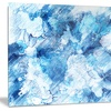 Blue Abstract Flowers Floral Metal Wall Art 28x12