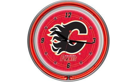 Calgary Flames Neon Clock f23e3cc6-8540-45fc-8bdd-b4570a394bb1