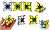 Toyzonkids 1x3x3 one order cube Magic Star Pocket Puzzle Brain Teaser That Spins