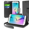 Insten Black Leather Card Slot Wallet Stand Case For Galaxy S6 Edge