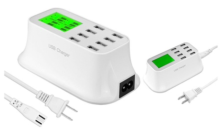 Universal 8 Port USB Wall Travel Fast Charger Power Supply White 93c4919d-8af7-4040-be26-21c859513ffa