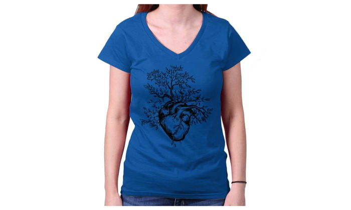 f65ee746db8 Sprouting Heart Cool Beautiful Spirit Animal Junior Fit V-Neck T Shirt