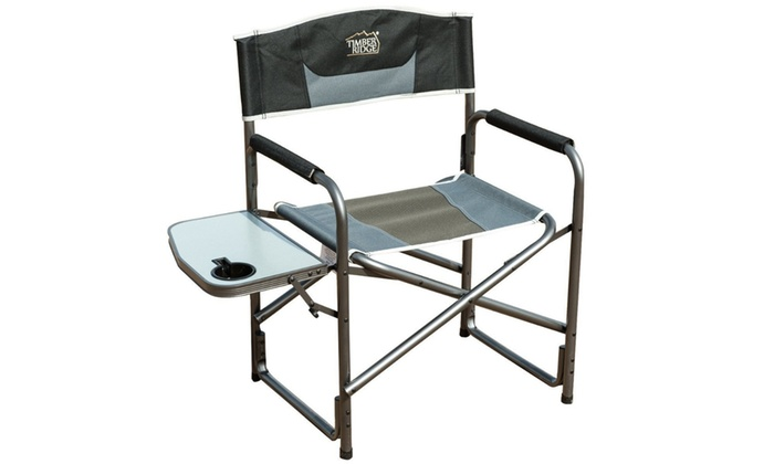 Beau Timber Ridge Aluminum Folding Chair With Side Table