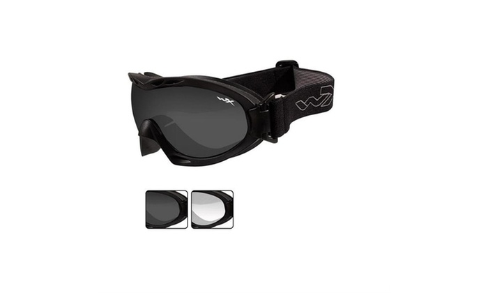 ad3d281ca9 Wiley X Nerve Goggle Smoke Grey Clear Lens Matte Black Frame