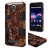 Insten Camouflage Hard Hybrid Case For Zte Obsidian Brown/black
