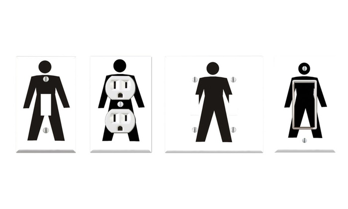 Toggle/Rocker Switch/Outlet Cover Decor Wall Plates - Funny Man