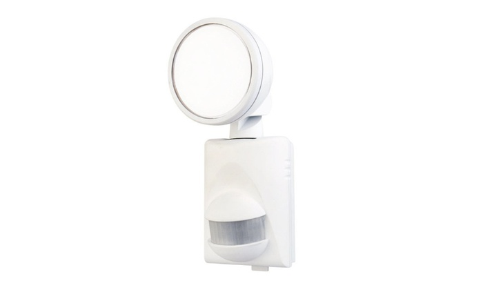 HeathCo HZ-5990-WH LED Single Head Security Light, White