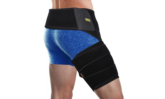 32916312b3 Leg Groin Support Compression Brace Hamstring Hip Injury Support Sleeve