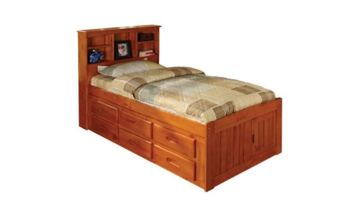 american furniture classics twin platform bed with bookcase, Headboard designs