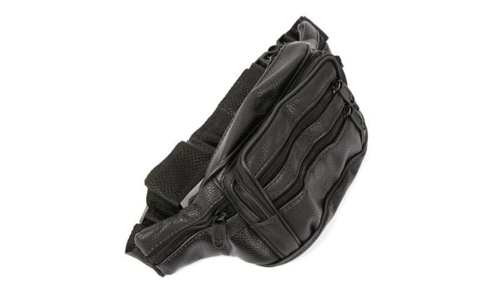 Leather Waist Fanny Pack Belt Bag Pouch Travel Hip Purse Mens Womens