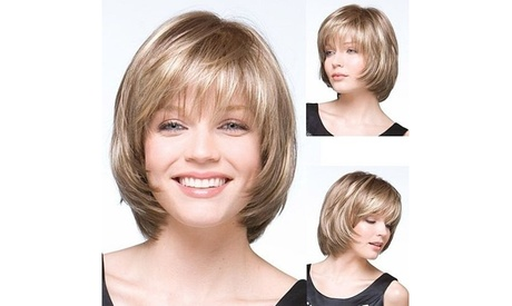 Short Bob Wig Luxury Hair Replacement Wigs Natural Straight