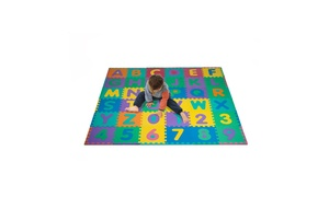Foam Floor Alphabet and Number Puzzle Mat For Kids (96-Piece)