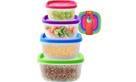 Plastic storage containers - 4 pack