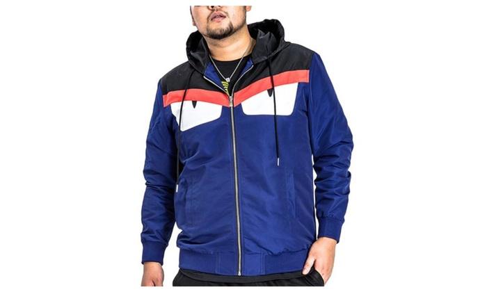 Men's Regular Fit Zip Closure Long Sleeve Nylon Jackets