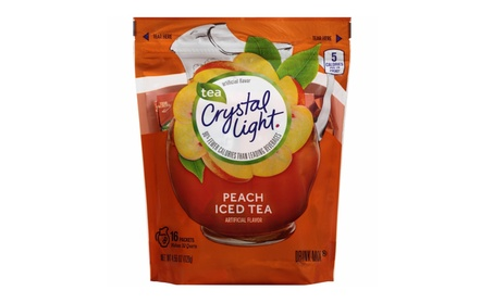 Crystal Light Peach Iced Tea Sticks, 16 Count (Makes 32 Quarts), 1 Bag 8e6cc7bd-ab31-427a-b5dd-42a8292cb724