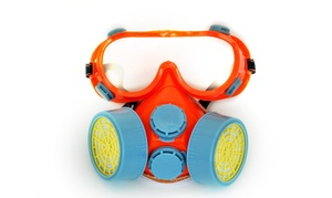 Respirator Mask with Safety Goggles