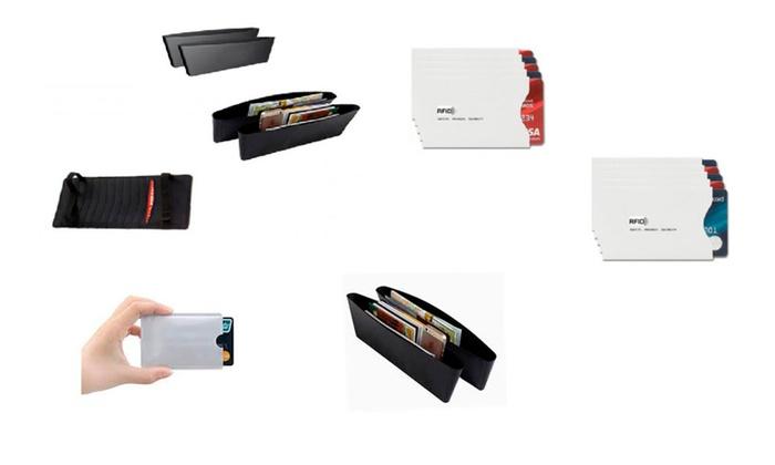 Storage Organizer Set Car Interior and 10 Packs Security Card Sleeves