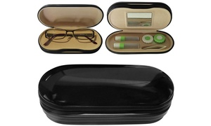 Evelots Glasses & Contacts Travel Case, Assorted Colors