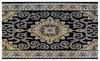 Black Persian Kashan Design High Quality Rug Carpet New Thick