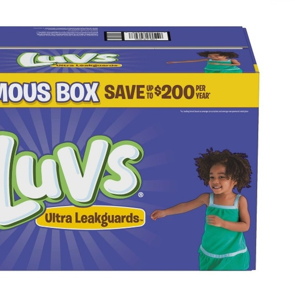 124 Count Size 6 One Month Supply Luvs Ultra Leakguards Disposable Diapers