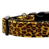 Animal Print Nylon Collars Leopard Large