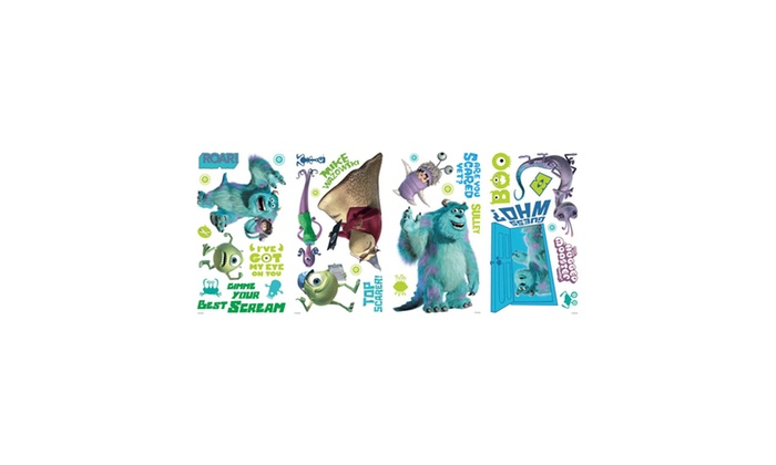Roommates Decor Monsters, Inc. Wall Decals | Groupon