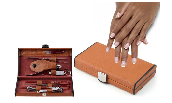 Deluxe Manicure Set With Carrying Case 10pc Comfortable Use Groupon
