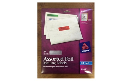 Avery Assorted Foil Mailing Labels, 300 labels (8985)