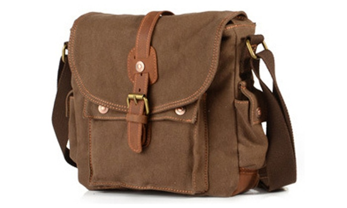 Men's Canvas Vintage Cross-Body Bag