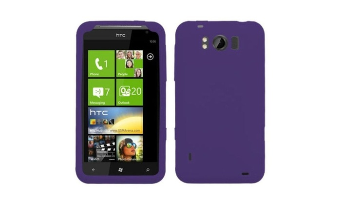 insten solid skin case dr purple for htc x310a titan