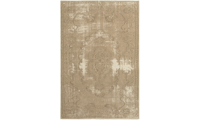 Monarch Alessa Tan Ivory Distressed Area Rug Groupon