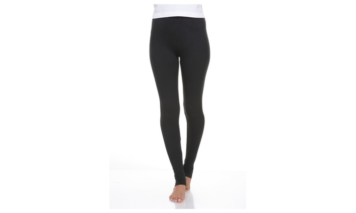 White Mark Women's Solid Leggings