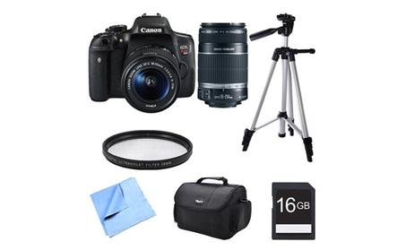 Canon Eos Rebel T6i Digital SLR w/ 18-55mm and 55-250mm Telephoto Lens b554254f-de1d-43e8-8985-fd2108b3abc8