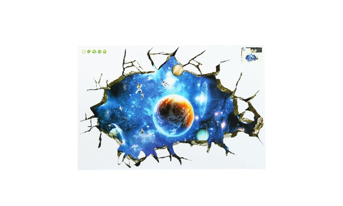 3D Outer Space Galaxy Wall Decals ...  sc 1 st  Groupon & 3D Outer Space Galaxy Wall Decals | Groupon