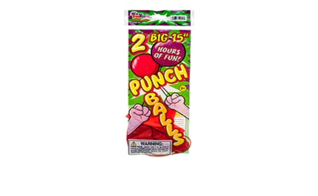 "Toy Balloon 2pc 15"" Punch Ball 834ec37b-6957-488f-85bf-602a5c45d6d6"