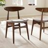 Baxton Studio Flora Mid-Century Modern Dining Chair Set (2-Piece)