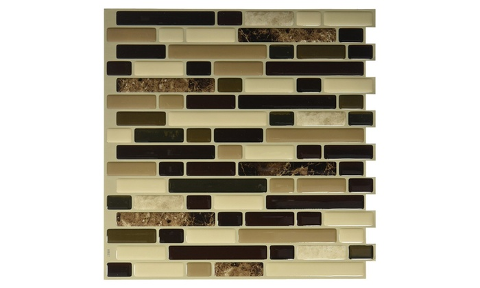 Quinco Inc SM4040 Bellagio Adhesive Decorative Wall Tile Groupon Classy Adhesive Decorative Wall Tile