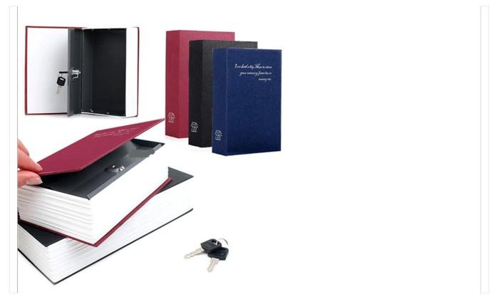 Dictionary Secret Book Hidden Safe With Key Lock Book Safe 4.5x2x7 inc