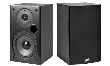 Polk Audio Home Theater and Music Bookshelf Speaker in Black - Pair