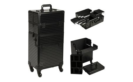 Ver VR6504STAB Stripe 4-Wheels Case, Black 6d462abe-4c63-4f75-a4fd-f7d9d17154bd