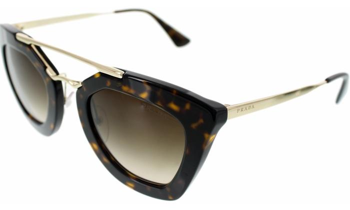 70798ed9a65e7 Prada Women s Gold Cat Eye Sunglasses