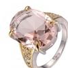 Huge Morganite925 Sterling Silver Designer Ring